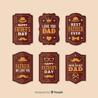 Kolekcja odznak dzień ojca rocznika