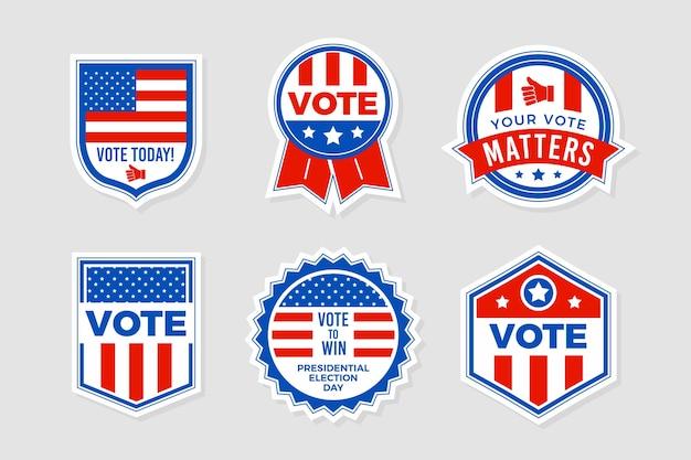 Kolekcja odznak głosowania