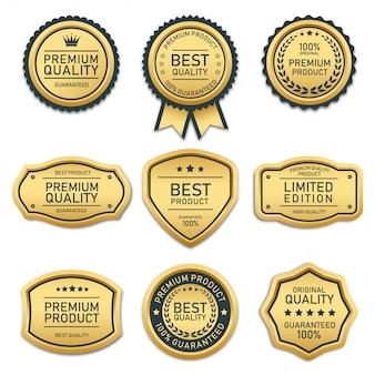 Kolekcja odznak i etykiet najwyższej jakości produktu