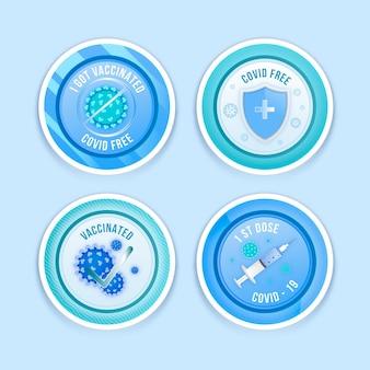 Kolekcja odznak kampanii szczepień gradientu