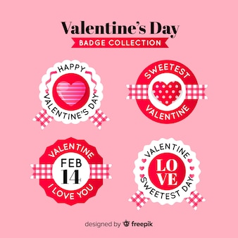 Kolekcja odznak koło valentine