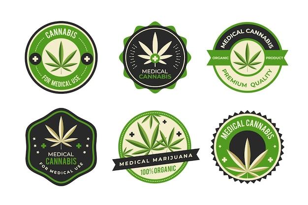 Kolekcja odznak medycznych konopi