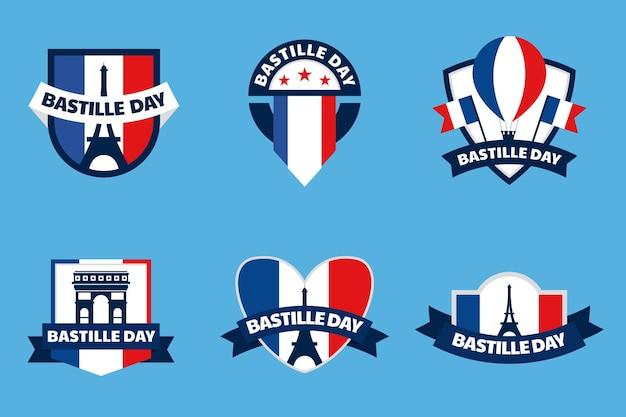Kolekcja odznak na dzień bastylii