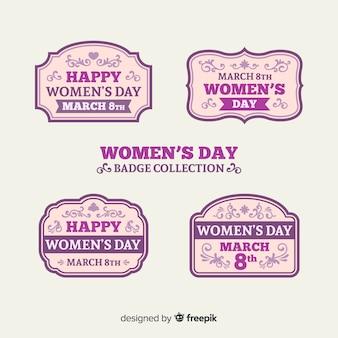 Kolekcja odznak na dzień kobiet