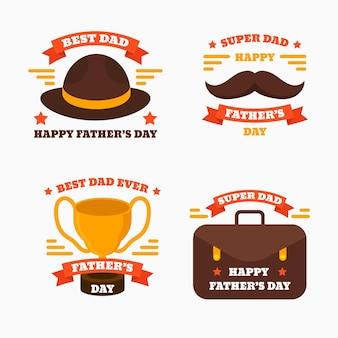 Kolekcja odznak na dzień ojca