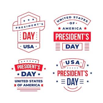 Kolekcja odznak na dzień prezydenta