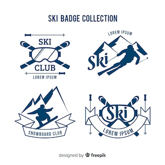Kolekcja odznak narciarskich