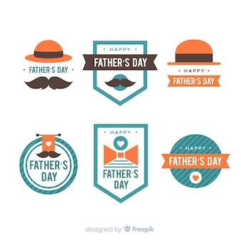 Kolekcja odznak płaski dzień ojca