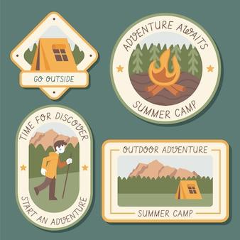 Kolekcja odznak przygodowych