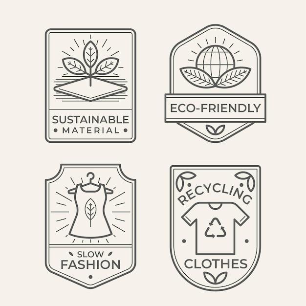 Kolekcja odznak slow fashion