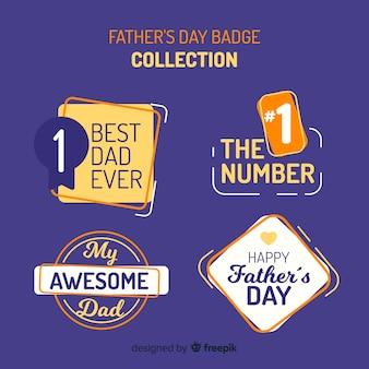 Kolekcja odznak szczęśliwy dzień ojca