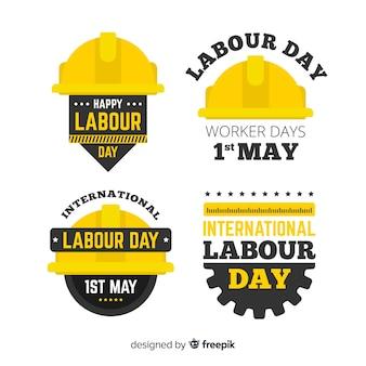 Kolekcja odznak szczęśliwy dzień pracy