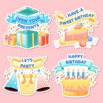 Kolekcja odznak urodzinowych
