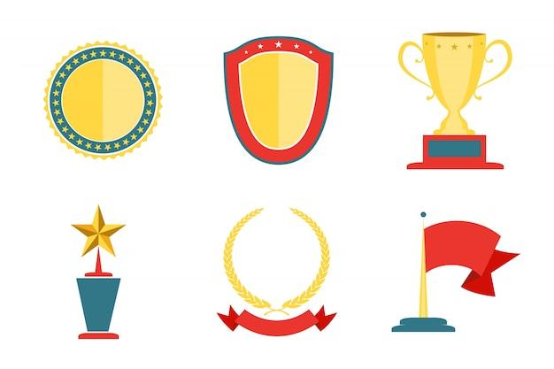 Kolekcja odznak z nagrodami