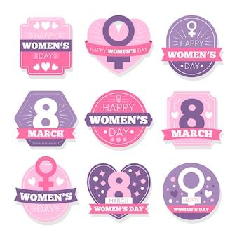 Kolekcja odznak z okazji międzynarodowego dnia kobiet
