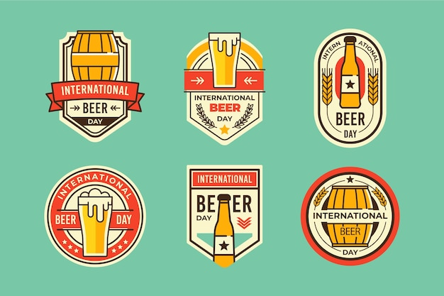 Kolekcja odznak z okazji międzynarodowego dnia piwa