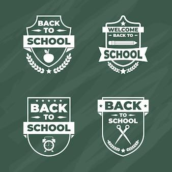Kolekcja odznak z powrotem do szkoły