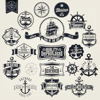 Kolekcja odznak żaglowe