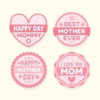 Kolekcja odznaka dzień matki płaska