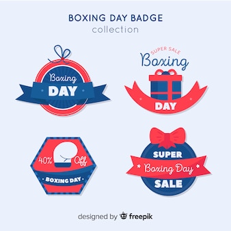 Kolekcja odznaka płaski dzień boks