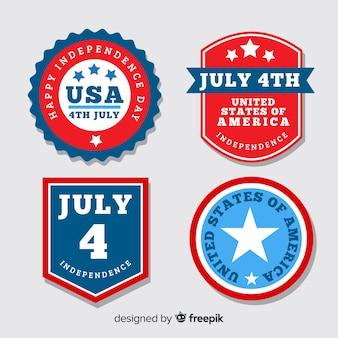 Kolekcja odznaka płaski dzień niepodległości