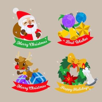 Kolekcja odznaka świąteczna płaska konstrukcja