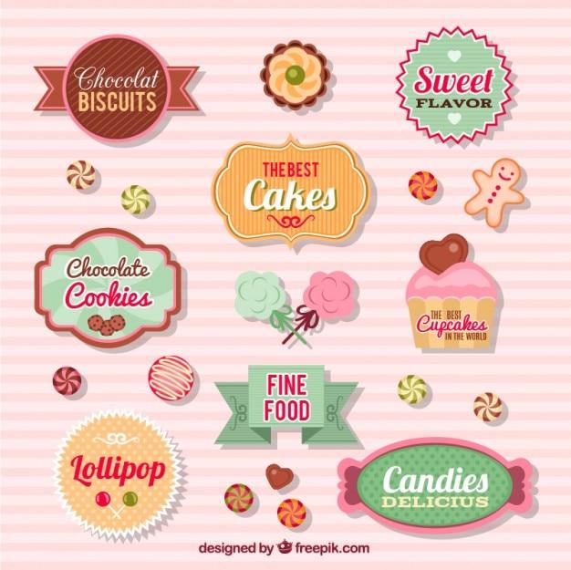 Kolekcja odznaki cukierki