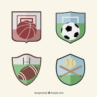 Kolekcja odznaki sportowe