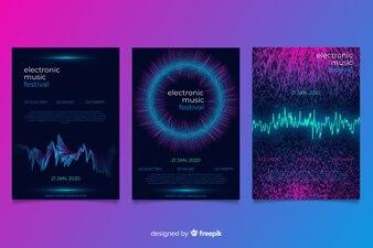 Kolekcja okładek dźwięków Wave