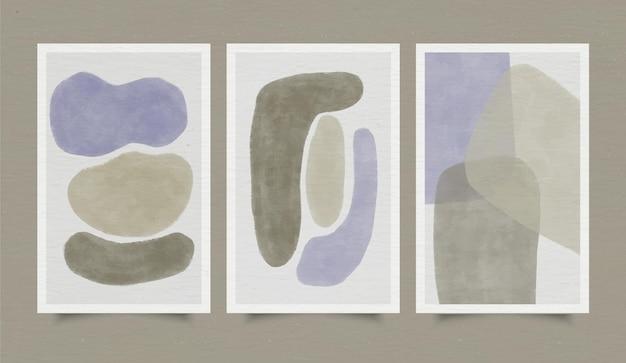Kolekcja okładek abstrakcyjnych kształtów