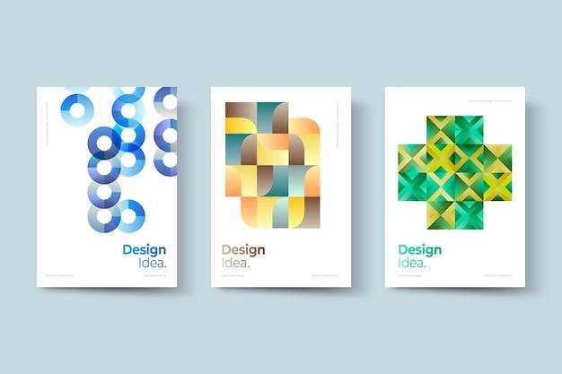 Kolekcja okładek biznesowych geometryczne