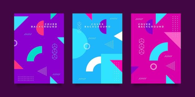 Kolekcja okładek designerskich memphis