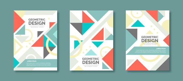 Kolekcja okładek firmy geometrycznej