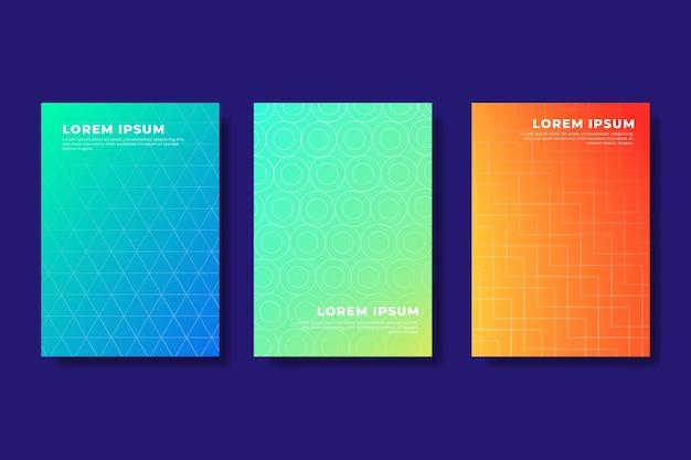 Kolekcja okładek gradientu półtonów