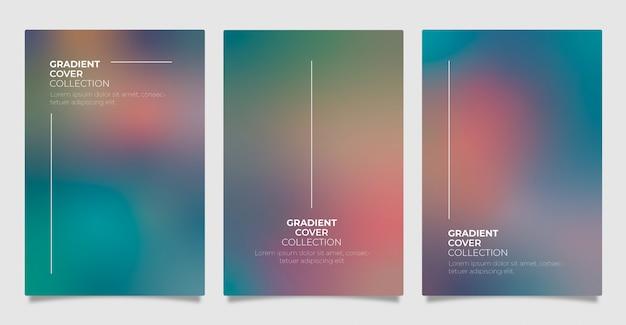 Kolekcja okładek gradientu