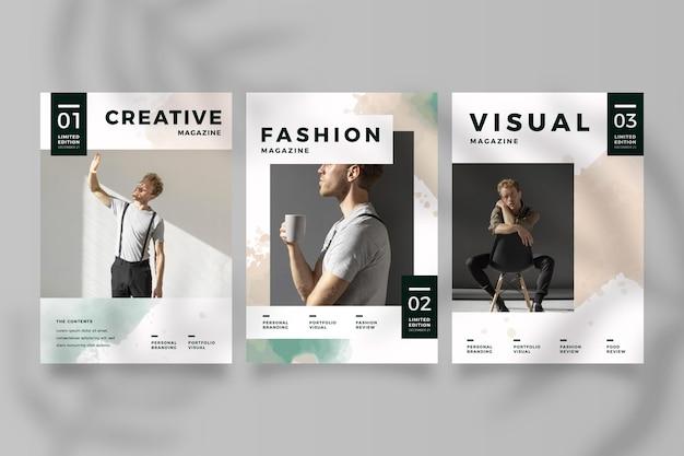Kolekcja okładek magazynu ze zdjęciem