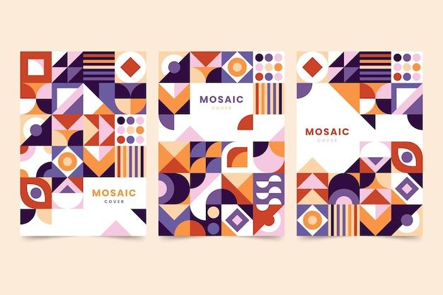 Kolekcja okładek mozaiki płaskiej