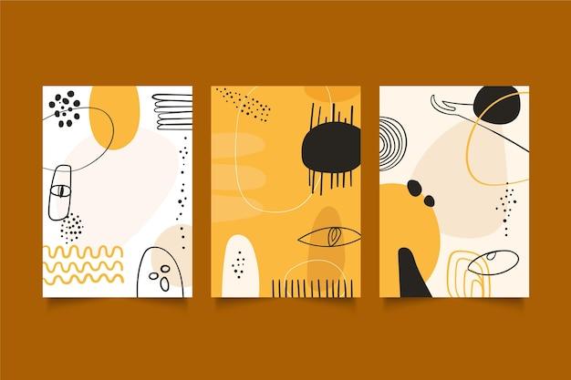 Kolekcja okładek płaskich abstrakcyjnych dzieł sztuki