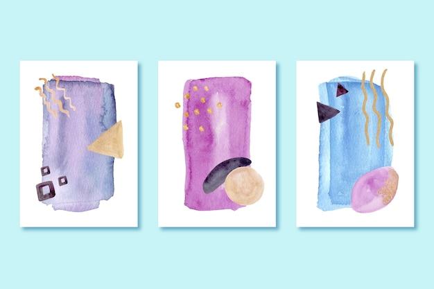 Kolekcja okładek pomalowanych kształtów