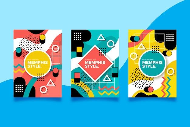 Kolekcja okładek projektowych memphis