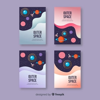 Kolekcja okładek przestrzeni kosmicznej