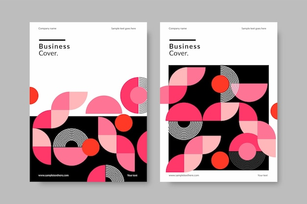 Kolekcja okładek streszczenie biznes