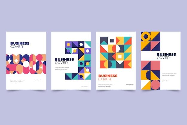 Kolekcja okładek streszczenie geometryczny biznes