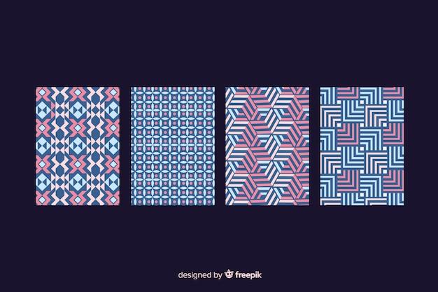 Kolekcja okładek wzorów geometrycznych