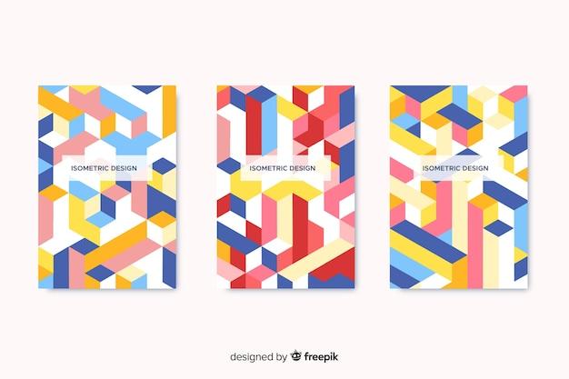 Kolekcja okładek z geometrycznym wzorem