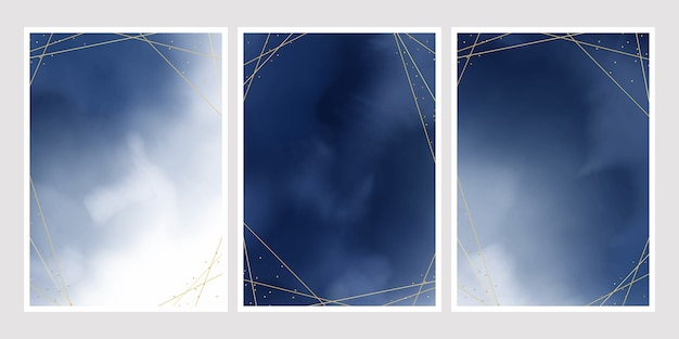 Kolekcja okładki akwarela gradientu