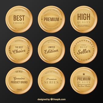 Kolekcja okrągłych naklejek premium