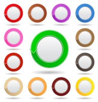Kolekcja okrągłych przycisków