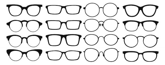 Kolekcja okularów. zestaw okularów przeciwsłonecznych. ilustracja.