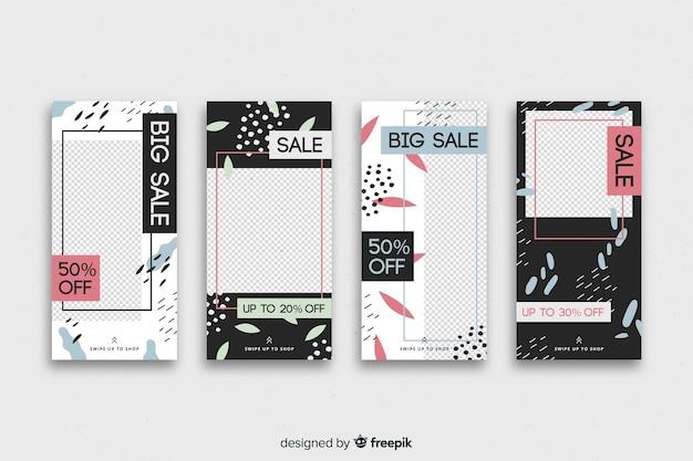 Kolekcja opowiadań instagram abstrakcyjna sprzedaż